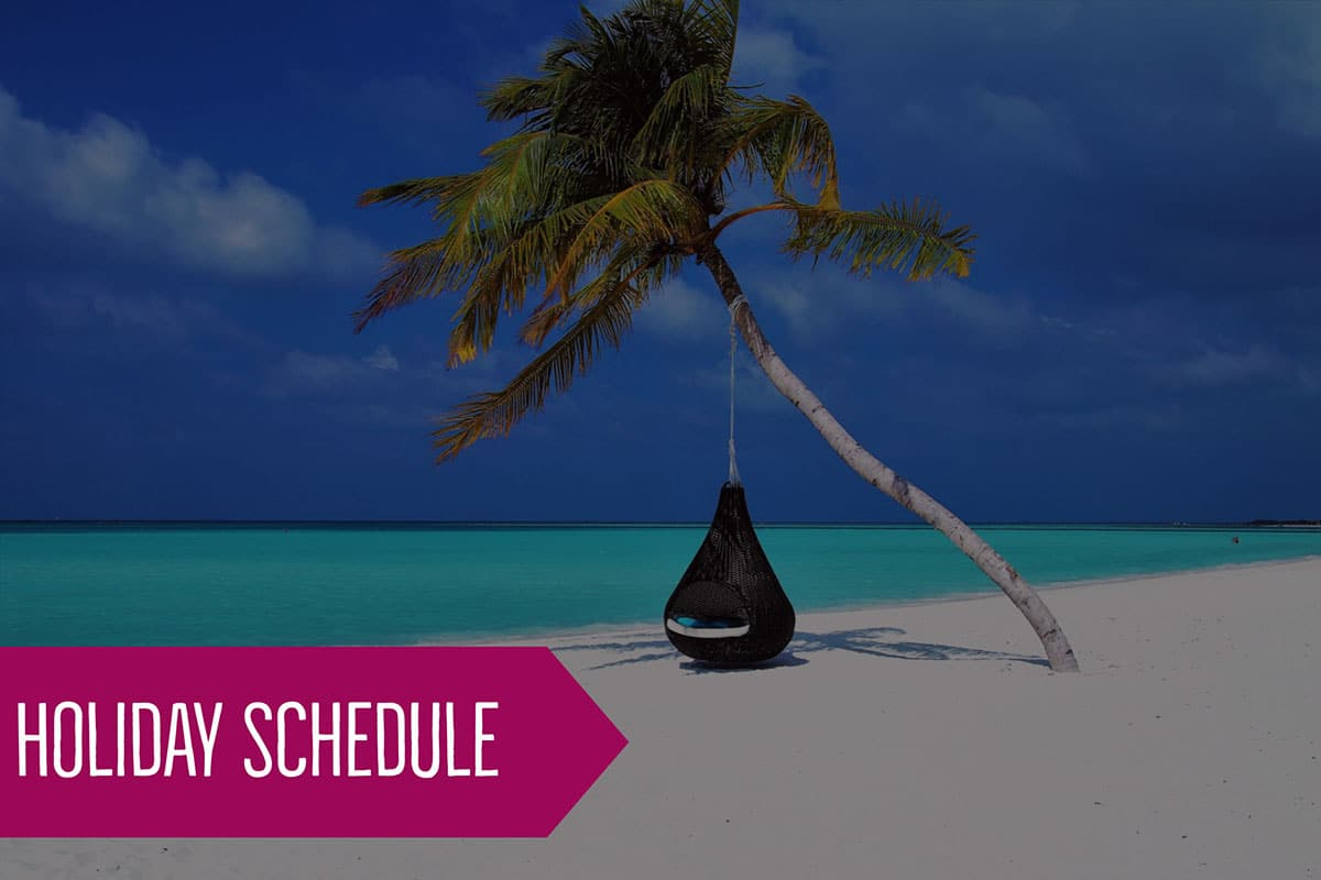 2018 – 2019 Holiday Schedule